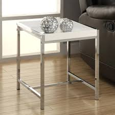 chrome metal accent table monarch white acrylic chrome metal accent table i table x x chrome metal chrome metal accent table