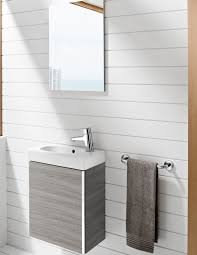 Roca Bathroom Accessories Roca Textured Grey Mini Basin And Unit With Mirror 855865156