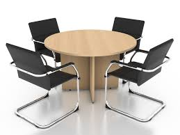 Office Chairs And Round Table Stock Photography Image