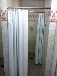 standard stall shower curtain size