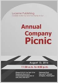 Company Picnic Template Picnic Flyer Template Free Under Fontanacountryinn Com