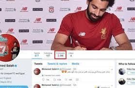 سبب إغلاق حساب اللاعب محمد صلاح على تويتر مجلة رجيم