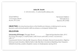 Sample Of Job Objective In Resume Career Objective Resume Examples