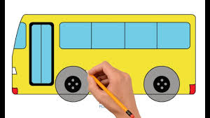 bus drawing for kids. Plain Kids How To Draw A Bus Step By Easy For Kids  Coloring Book Page And  Drawing Learn Colors With