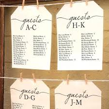 Simple Elegant Alphabetical Wedding Seating Template Printable Find Your Table Sign Set For Guests