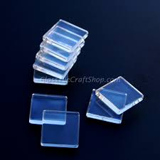 square glass cabochon 25mm flat