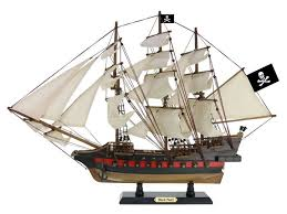 wooden black pearl white sails limited model pirate ship 26