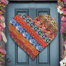 Decorative Door Hangers Vintage Love Heart Wooden Decorative Door Hangerauthenticmonogramcom