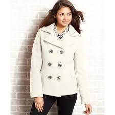 american rag hooded pea coat in white lyst