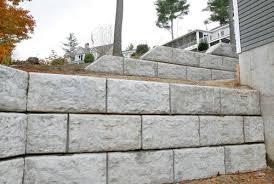 hollow concrete block landscape