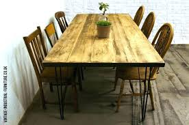 wood table with hairpin legs hairpin leg dining table dining table with metal legs wood and