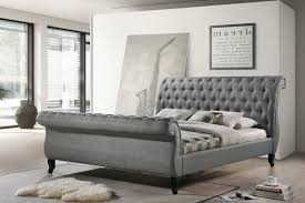 grey upholstered sleigh bed. AleXa Home Nottingham Tufted Platform Upholstered Sleigh Bed Eastern King Gray Grey I