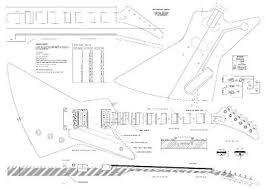 Amazon Com Set Of 3 Gibson Electric Guitar Plans Explorer