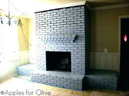 grey brick fireplace painted light gray walls white ideas stone images pai