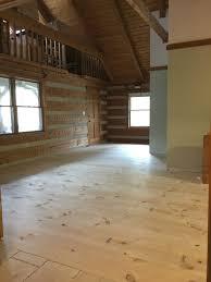 diy wide plank pine floors hood creek log cabin