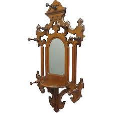 Victorian Coat Rack Victorian Hall Mirror With Hat And Coat Rack Antiques On Hanover 5
