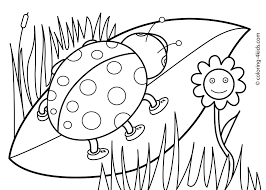 revealing springtime pictures to color spring coloring pages for kids print out new free springcoloring