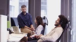 Office Scene In Call Centre U2014 Stock Video