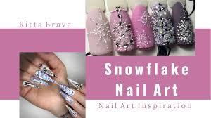Snowflake Nail Art - Christmas Nails with Snowflakes - YouTube