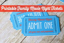 Family Movie Night With Printable Tickets The Girl Creative