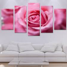 canvas wall art pictures modular painting frame modern room home decor 5 panel blooming pink roses flower hd print poster pengda in painting calligraphy  on pink rose canvas wall art with canvas wall art pictures modular painting frame modern room home