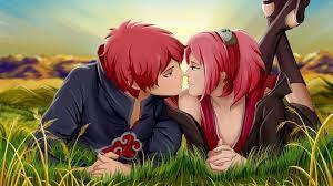 Free Cute Anime Couple Background ...