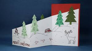 Diy Christmas Cards Handmade Christmas Cards Diy Trifold Christmas Tree Card Youtube