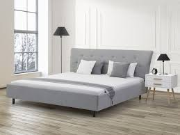 gray upholstered platform bed  king size  saverne