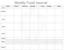 Food Diary Template Download Picture Diabetic Food Journal