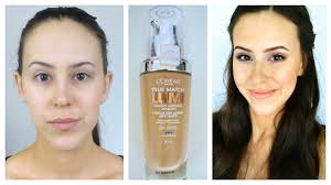 first impression l oreal true match lumi foundation review and demo you