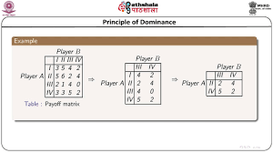 principle of dominance dominance principle arithmetic method and graphical method for solving a 2 x n game math