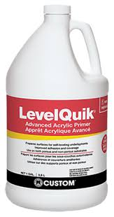 Self Leveling Coverage Chart Levelquik Advanced Acrylic Primer Custom Building Products