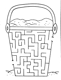 Sand Bucket Maze Coloring Pages