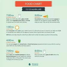 What Is The Food Chart For 1 Year Old Baby
