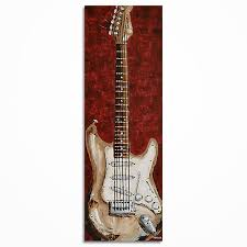 room decor art guitar art guitar wall art original guitar painting on canvas