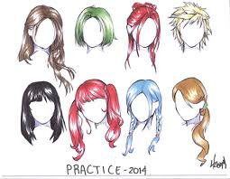 Anime Hairstyles Coloring Book Anime Coloring Pages Best Coloring