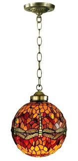 vintage stained glass hanging lamp light fixture old