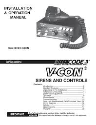 sirens and controls installation & operation manual manualzz com Whelen Strobe Wiring-Diagram Code 3 3672l4 Wiring Diagram #39