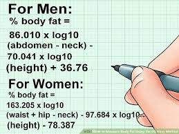 How To Measure Body Fat Using The Us Navy Method 10 Steps