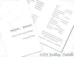 Wedding Booklet Template Free Wedding Program Template Ceremony Booklet Examples