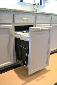 kitchen trash can with recycling how to build a pull out trash and recycling bin kitchen