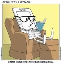 hipster kindle cartoon