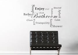 bathroom wall art quotes uk