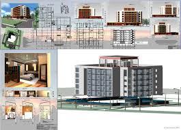 Проекты гостиниц скачать Чертежи РУ Дипломный проект Гостиница на 100 мест 50 735 х 52 200 м в г