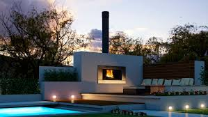 Modern Outdoor Fireplace Designs Small House Design Outdoor Entertaining Fireplace