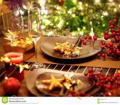 Christmas Table Setting Christmas Table Setting Stock Photo Image 35049740