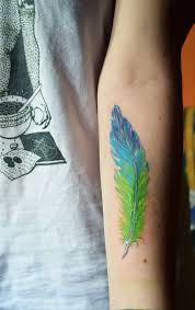 Pin by Ashley Behr on aesthetic | Feather tattoo colour, Tattoos, Feather  tattoos