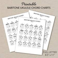 Baritone Ukulele Chord Charts Printable Pdf Format Letter Size Print At Home