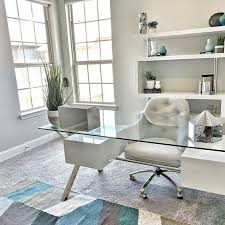 home office decor. Great Home Office Decor / Decorating Idea - Love How Clean And Organized The Glass Desk D