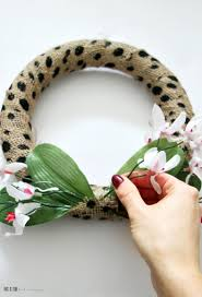 dollar tree polkadot burlap and fl spring wreath my dollar diy this is our bliss
